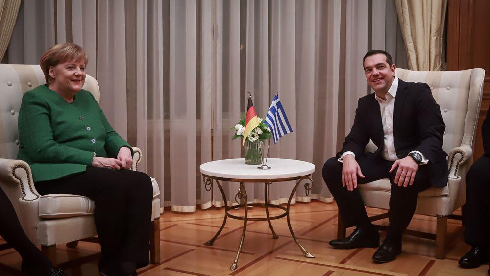 Τουρκία, Αιγαίο, μεταναστευτικό, Συμφωνία Πρεσπών και γερμανικές αποζημιώσεις στη συζήτηση Τσίπρα - Μέρκελ