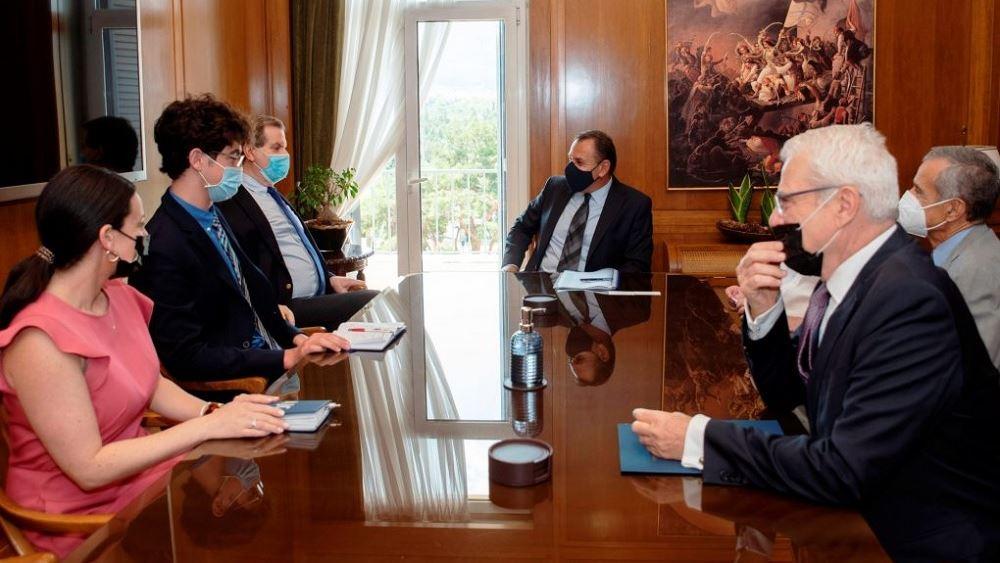 Συνάντηση ΥΕΘΑ Ν. Παναγιωτόπουλου με τον εκτελεστικό διευθυντή του AJC Ντέιβιντ Χάρρις