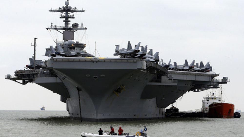 ΗΠΑ: Στέλνουν αεροπλανοφόρα στη Νότια Σινική Θάλασσα