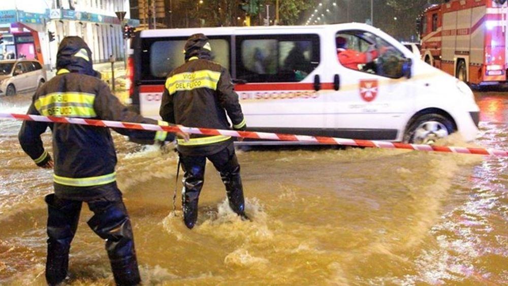 Κακοκαιρία στην Ιταλία: Νεκρή μία γυναίκα - Το αυτοκίνητό της παρασύρθηκε από ποτάμι