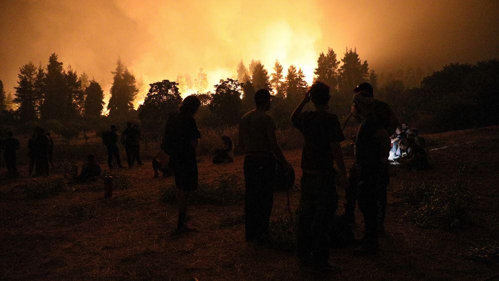 Παραμένει αρκετά δύσκολη η κατάσταση με την φωτιά στην περιοχή της Γορτυνίας