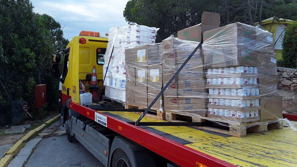 Συνεισφορά κοινωνικής αλληλεγγύης με 4,3 τόνους τροφίμων από την Interamerican κατά την περίοδο της κρίσης