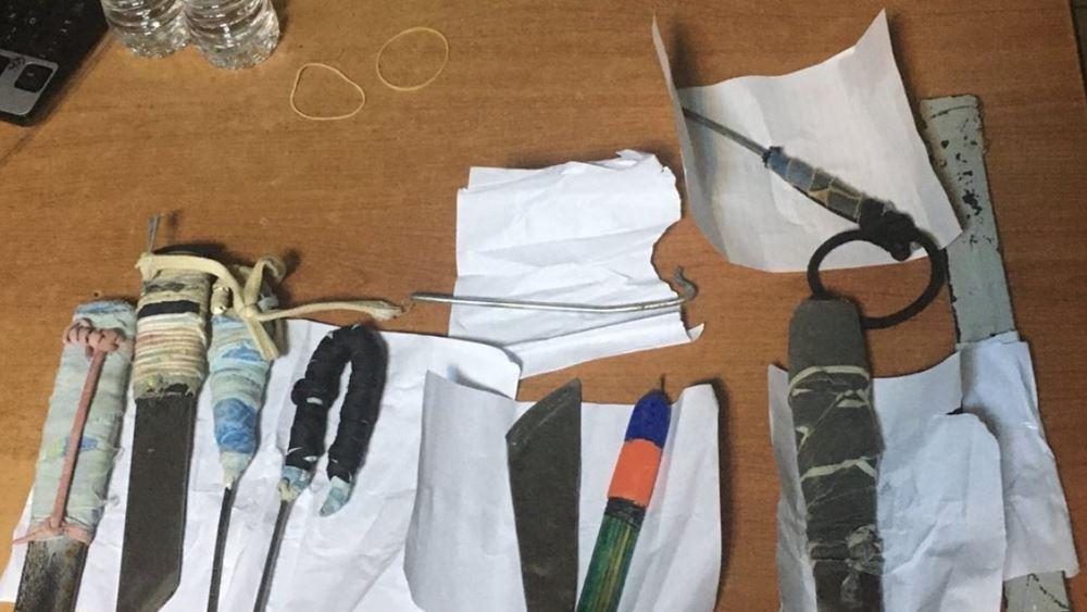 Φυλακές Δομοκού: Βρέθηκαν αυτοσχέδια μαχαίρια και άλλα αντικείμενα σε αιφνιδιαστική έρευνα