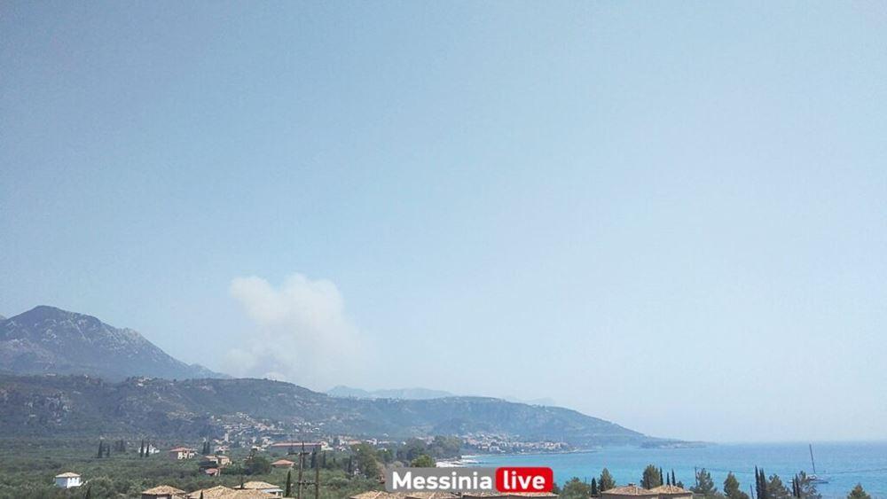 Νέα μεγάλη φωτιά κοντά στη Μηλιά Δυτικής Μάνης
