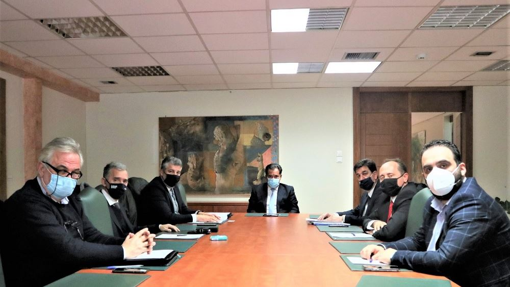 Συνάντηση των προέδρων των Επιμελητηρίων ΠΑΜΘ με τον Άδωνι Γεωργιάδη
