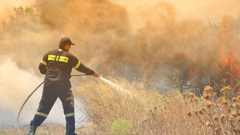 Υπό μερικό έλεγχο τέθηκαν δύο φωτιές που ξέσπασαν σχεδόν ταυτόχρονα στη Μέση Κέρκυρα