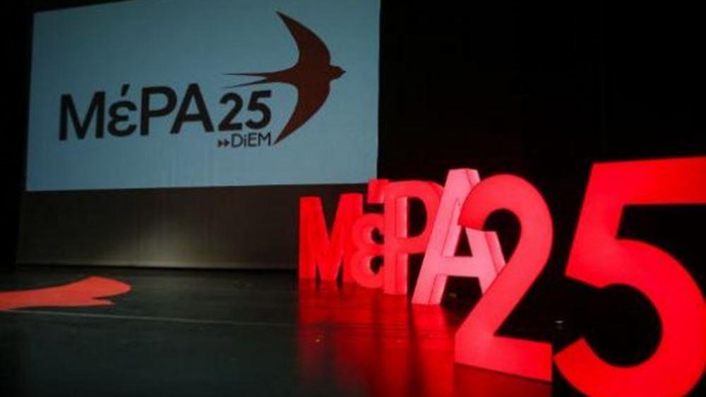 Το ΜέΡΑ 25 επικρίνει την ΕΕ για τη Β. Μακεδονία