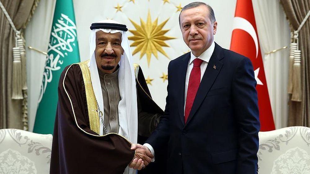 Τηλεφωνική επικοινωνία Ερντογάν - βασιλιά Σαλμάν της Σ. Αραβίας