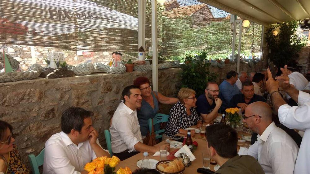 Στο Λαύριο τα προεκλογικά ούζα Τσίπρα