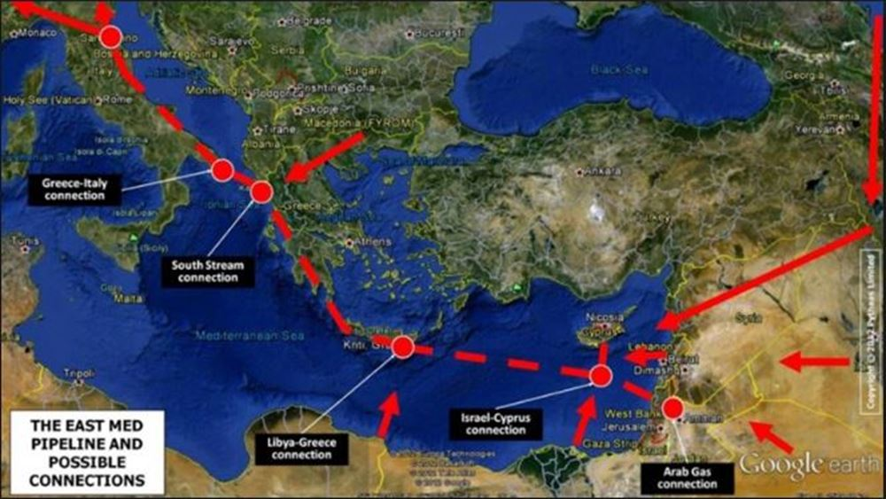 EastMed: Η πιο ανταγωνιστική επιλογή μεταφοράς του αερίου της Αν. Μεσογείου
