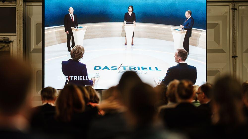 Γερμανία: Αντιδράσεις για τη θεματολογία της τηλεμαχίας των τριών υποψηφίων καγκελαρίων