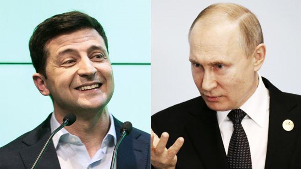 """Ρωσία - Ουκρανία: Συνομιλία Πούτιν - Ζελενσκι για την επόμενη συνάντηση των """"4"""" και την ανταλλαγή κρατουμένων"""