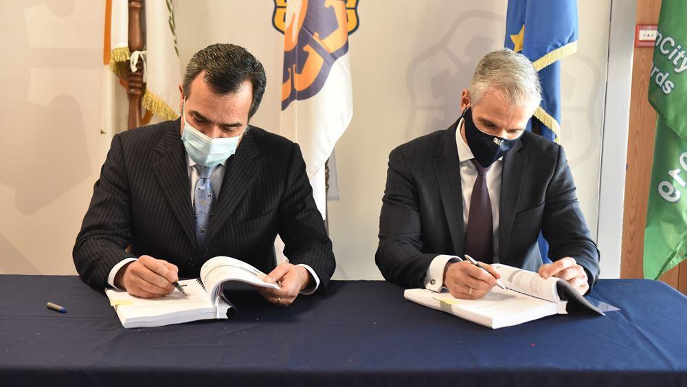 """Υπογραφή σύμβασης μεταξύ Logicom Solutions και Δήμου Λευκωσίας για την """"Προμήθεια, εγκατάσταση και λειτουργία υποδομών και συστημάτων έξυπνης πόλης"""""""