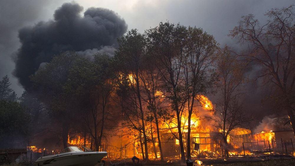 ΗΠΑ: Τουλάχιστον 5 νεκροί στην πυρκαγιά που κατακαίει τη βόρεια Καλιφόρνια