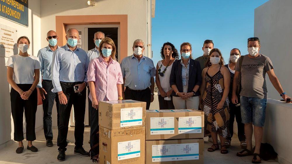 Δωρεά ιατρικού και υγειονομικού εξοπλισμούστο Αγαθονήσι από την Alpha Bank