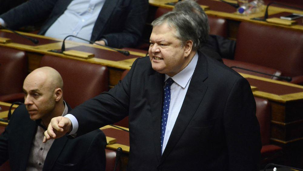 """""""Έκρηξη"""" Βενιζέλου στη Βουλή"""