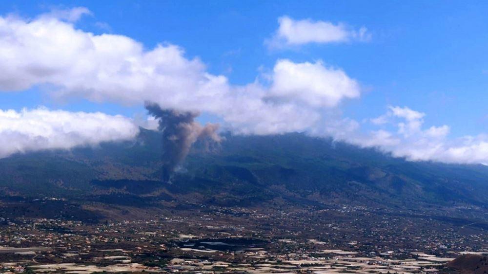 Ισπανία : Λάβα και στάχτες εκλύονται από το ηφαίστειο Κούμπρε Βιέχα στη Λα Πάλμα