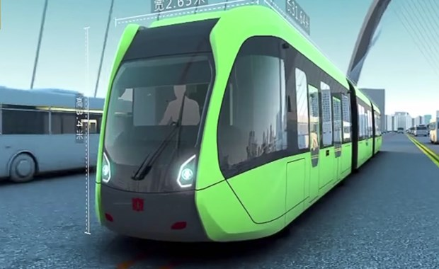 Αυτόνομο μετρο-λεωφορείο στην Κίνα δεν χρειάζεται ούτε οδηγό ούτε ράγες