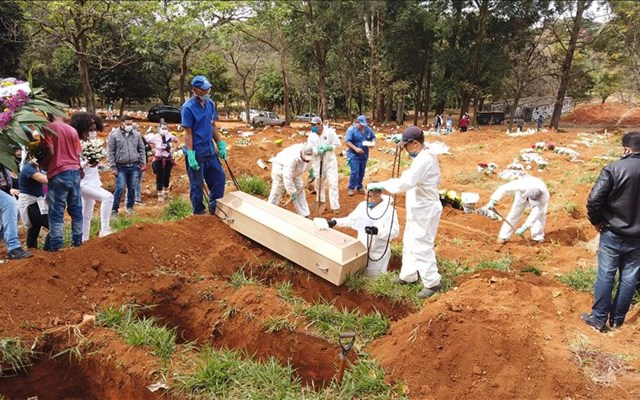 Βραζιλία: Καταγράφηκαν 20.286 κρούσματα μόλυνσης από τον κορονοϊό σε 24 ώρες