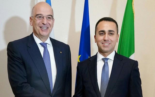 Αν. Μεσόγειος και Λιβύη στο επίκεντρο της συνομιλίας Ν. Δένδια-Λ. Ντι Μάιο