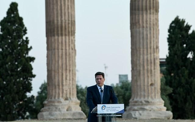 Σε εξέλιξη η εκδήλωση της ελληνικής προεδρίας του Συμβουλίου της Ευρώπης στον Ναό του Ολυμπίου Διός