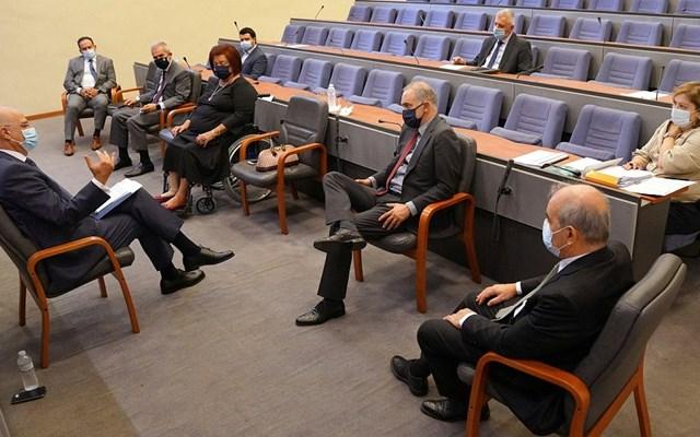 Με βουλευτές που συμμετέχουν στην Κοινοβουλευτική Συνέλευση του ΝΑΤΟ συναντήθηκε ο Ν. Δένδιας
