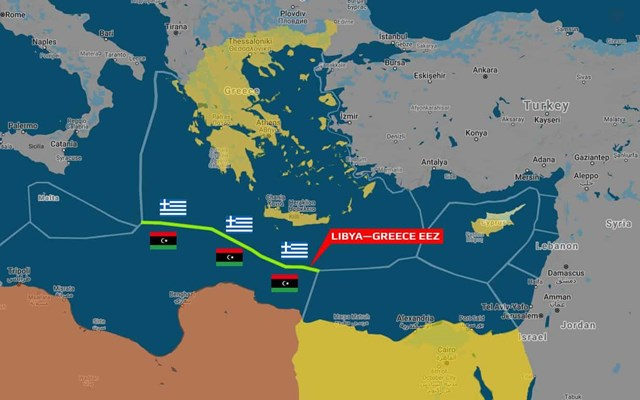 Ελλάδα και Λιβύη συζητούν για οριοθέτηση θαλασσίων συνόρων , λένε οι δυνάμεις του Χαφτάρ