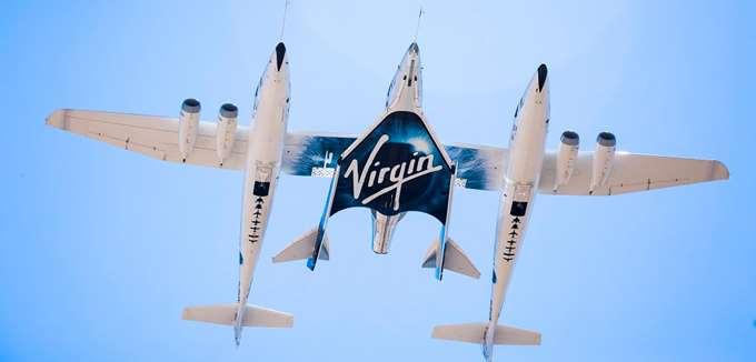 """Η μετοχή της Virgin Galactic """"εκτοξεύεται"""" καθώς οι επενδυτές αγοράζουν """"διάστημα"""""""