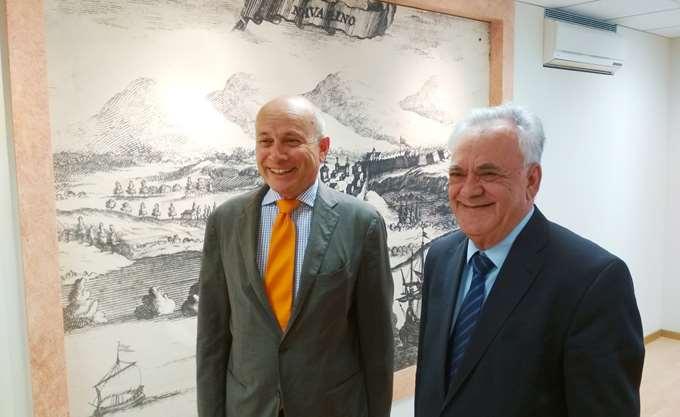Συνάντηση Δραγασάκη με τον Πρέσβη της Ιταλίας