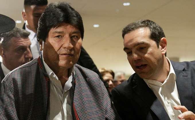 Τσίπρας σε Μοράλες: Ακόμη και το ΔΝΤ αναγνώρισε το success story της Βολιβίας - Εδώ αναγκαστήκαμε σε επίπονους συμβιβασμούς