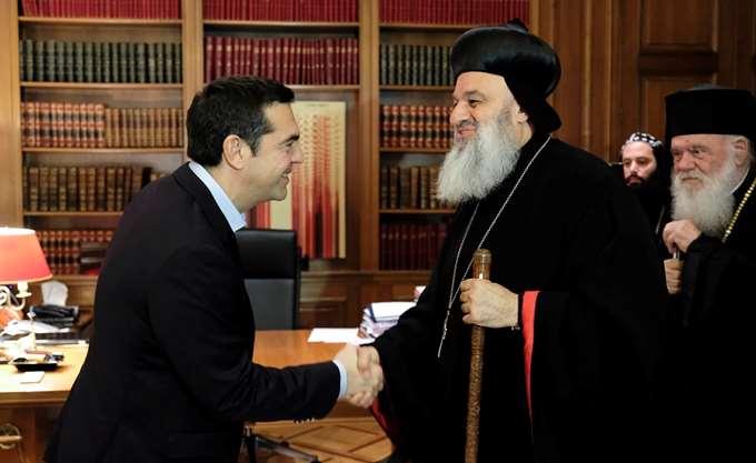 Συνάντηση Τσίπρα- Πατριάρχη Αντιοχείας παρουσία Ιερώνυμου
