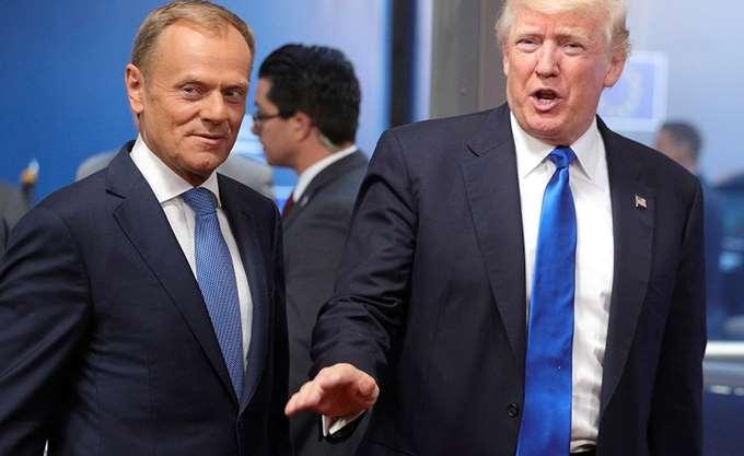 """Ο Τουσκ επικρίνει τον Τραμπ και προειδοποιεί εναντίον ενός """"φαιού"""" εθνικισμού στην Ευρώπη"""