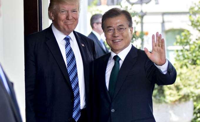 Τηλεφωνική συνομιλία Τραμπ με τον ηγέτη της Νότιας Κορέας