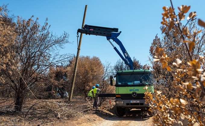 ΟΤΕ: Πλήρης αποκατάσταση δικτύων στη Ραφήνα