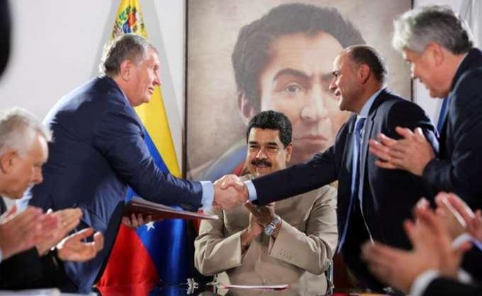 Ο Maduro παραχώρησε δύο υπεράκτια πεδία φυσικού αερίου στη ρωσική Rosneft