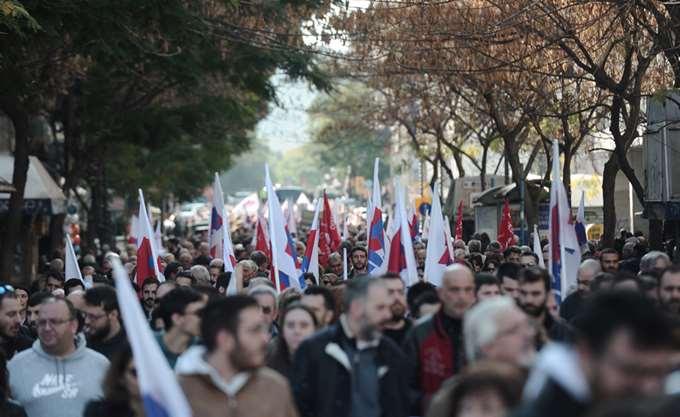 Ολοκληρώθηκε η πορεία της ΑΔΕΔΥ και εργατικών σωματείων στο κέντρο της Αθήνας