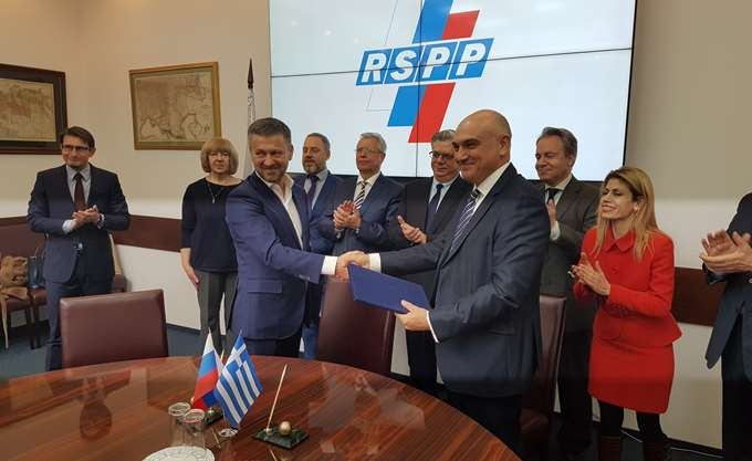 Συμφωνία συνεργασίας ΣΕΒ με Σύνδεσμο Ρώσων Βιομηχάνων και Επιχειρηματιών