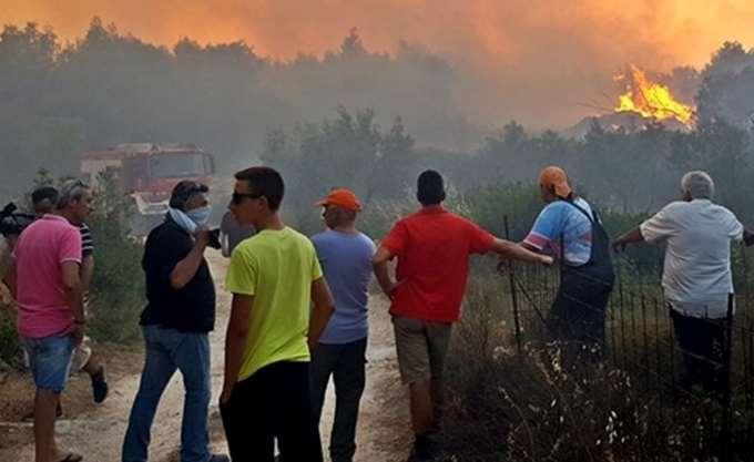 Ζάκυνθος: Νέα πυρκαγιά εκδηλώθηκε σε δάσος στο χωριό Καλαμάκι