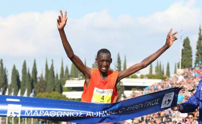 Ο Κενυάτης Μπρίμιν Κιπκορίρ Μισόι νικητής του 36ου Αυθεντικού Μαραθωνίου Αθήνας