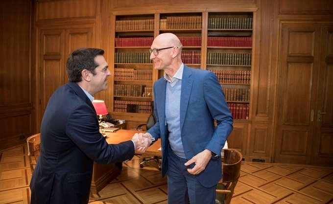 Συνάντηση Τσίπρα με τον επικεφαλής της Deutsche Telekom, με φόντο την επένδυση των 2 δισ.
