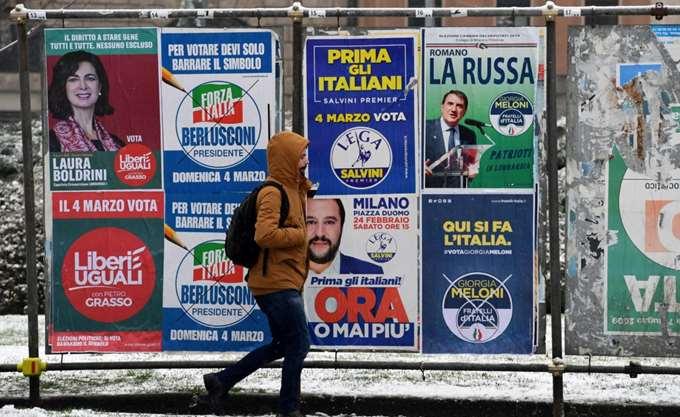 Iταλία: Οι λαϊκιστές του Κινήματος 5 Αστέρων και η ακροδεξιά Λέγκα του Βορρά ενισχύονται