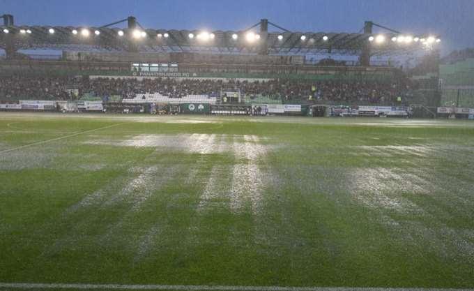 Οριστική διακοπή λόγω βροχής στο Παναθηναϊκός-Ξάνθη