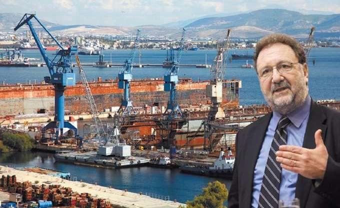"""Πιτσιόρλας: """"Μεγάλο στοίχημα"""" η επαναλειτουργία των ναυπηγείων Σύρου, Ελευσίνας και Σκαραμαγκά"""