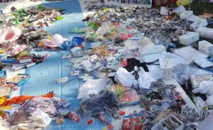 Πεντέμισι τόνοι παράνομων προϊόντων κατασχέθηκαν στον Πειραιά