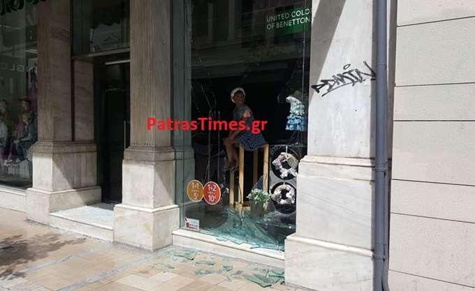 Πάτρα: Γυαλιά-καρφιά καταστήματα από επίθεση αγνώστων