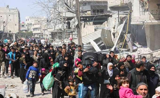 Υπερτριπλασιάστηκε στις 160.000 ο αριθμός των εκτοπισμένων στη νότια Συρία