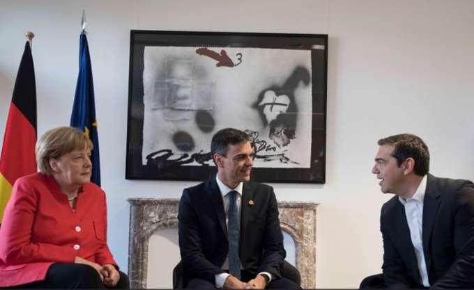 Συνάντηση Αλ. Τσίπρα με Σάντσεθ και Μέρκελ στο περιθώριο της Συνόδου