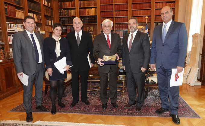 Ο Πρόεδρος της Δημοκρατίας υποδέχθηκε τη Χ.Α.Ν.Θ. στο Προεδρικό Μέγαρο