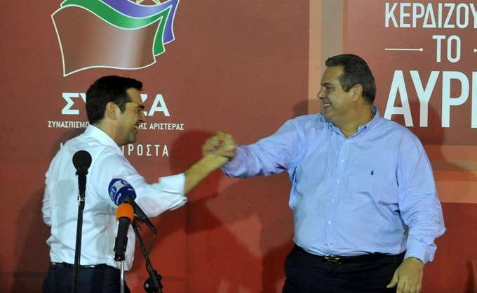 """""""Λαβωμένος"""" ο ΣΥΡΙΖΑ από Καμμένο αλλά Τσίπρας εμμένει: Πάμε μαζί"""