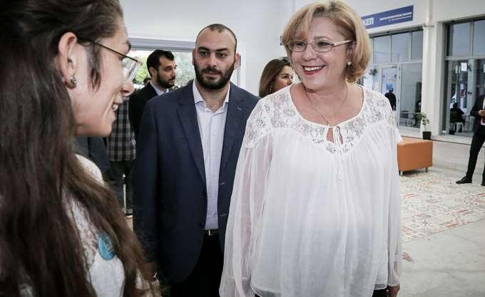 Την ανακαινισμένη δημοτική αγορά της Κυψέλης επισκέφθηκε η Ευρωπαία επίτροπος Κρέτσου